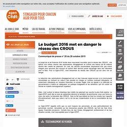 Le budget 2016 met en danger le réseau des CROUS