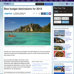 Best budget destinations for 2013