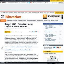Budget 2013 : l'enseignement supérieur sauve sa peau
