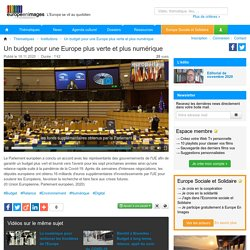 Un budget pour une Europe plus verte et plus numérique