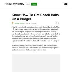 Ways To Get Beach Baits For Free