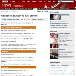 Budget 2011 at a glance: George Osborne's key points