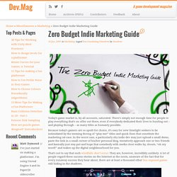 Zero Budget Indie Marketing Guide