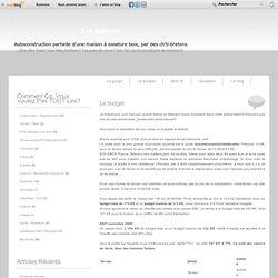 Le budget - Ker Biloute, MOB dans le Finistère