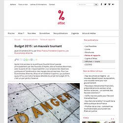 Budget 2015 : un mauvais tournant