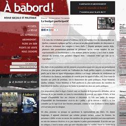 Le budget participatif - Revue À bâbord !