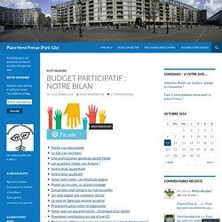 Budget participatif : notre bilan