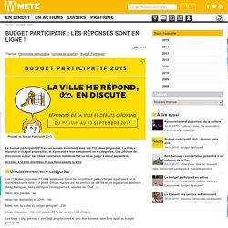 Budget participatif : les réponses sont en ligne !