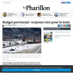 Budget provincial : toujours rien pour le train