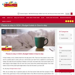 Budget and Best Hotels in Goa to stay