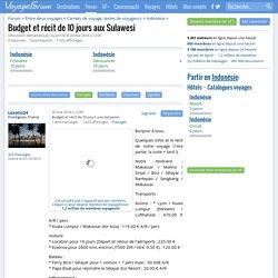 Budget et récit de 10 jours aux Sulawesi