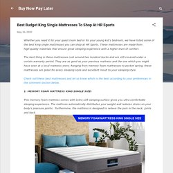 Best Budget King Single Mattresses To Shop At HR Sports