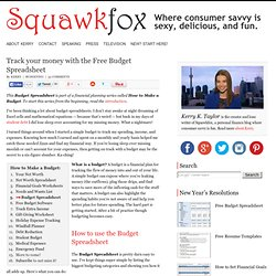 Track your money with the Free Budget Spreadsheet