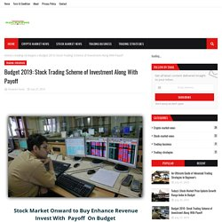 Stock Trading Scheme of Investment Along With Payoff