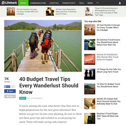 40 Budget Travel Tips Every Wanderlust Should Know