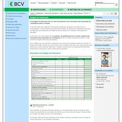 Budget de trésorerie - BCV