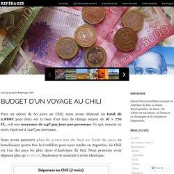 Budget d'un voyage au Chili