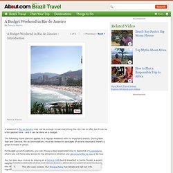 A Budget Weekend in Rio de Janeiro - Travel Planner for a Budget Weekend in Rio de Janeiro