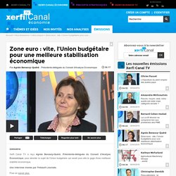 Agnès Benassy-Quéré, Zone euro : vite, l'Union budgétaire pour une meilleure stabilisation économique