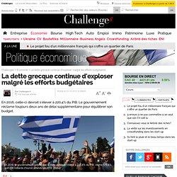 La dette grecque continue d'exploser malgré les efforts budgétaires