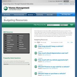 Budgeting Tools - Money Management