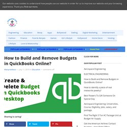How to Build and Remove Budgets in QuickBooks Online? - Clinkcareer