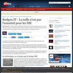 Budgets IT - La taille n'est pas l'essentiel pour les DSI - ZDNet