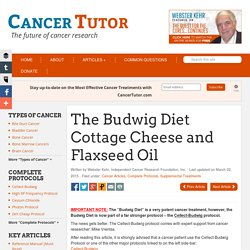 The Budwig Diet - Flaxseed Oil and Cottage Cheese
