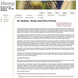 Dr. Budwig - Hemp Seed Oil and Protein