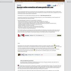 Buecher online verwalten mit www.goodreads.com