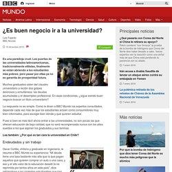 BBC - ¿Es buen negocio ir a la universidad?