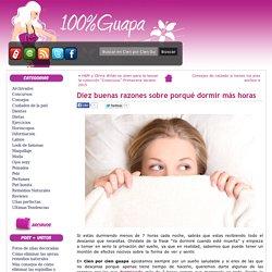 Diez buenas razones sobre porqué dormir más horas