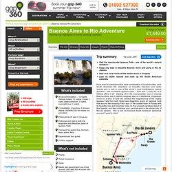 Buenos Aires to Rio Adventure