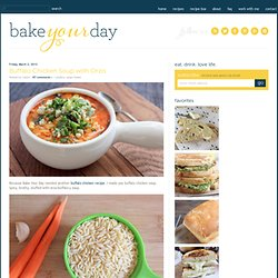 Bake Your Day » Buffalo Chicken Soup with Orzo