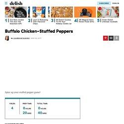 Best Buffalo Chicken-Stuffed Peppers Recipe - How to Make Buffalo Chicken-Stuffed Peppers