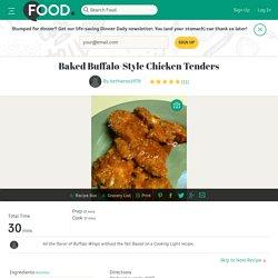 Baked Buffalo-Style Chicken Tenders Recipe