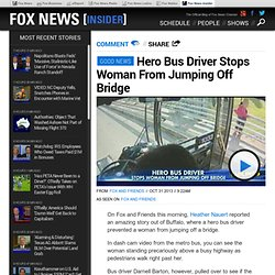 Hero Buffalo Bus Driver Darnell Barton Stops Woman From Jumping Off Bridge
