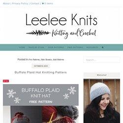 Buffalo Plaid Hat Knitting Pattern - Leelee Knits
