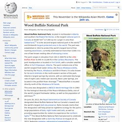 Wood Buffalo National Park - Wikipedia