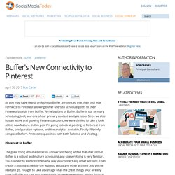 Buffer's New Connectivity to Pinterest