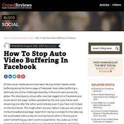 How To Stop Auto Video Buffering In Facebook