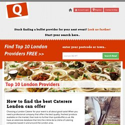 Top 10 Buffet Service Providers In London