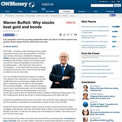Warren Buffett: Why stocks beat gold and bonds