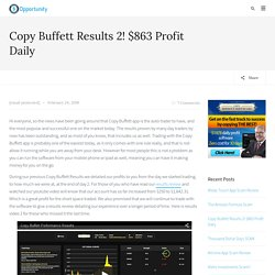 Copy Buffett Software Results