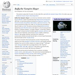 Buffy the Vampire Slayer - Wikipedia