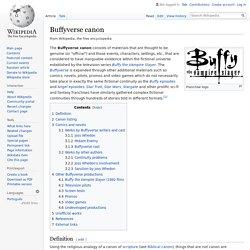 Buffyverse canon - Wikipedia