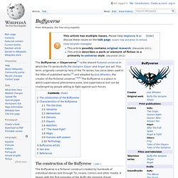 Buffyverse - Wikipedia