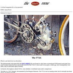 the Bugatti revue, 12-1, Bugatti T72 fact sheet and photos