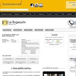 Le Bugeautin restaurant Lyon , menu, teléphone Le Bugeautin Restaurant Lyon
