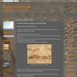 Bugey Historique: LA PESTE DANS LE BUGEY AU MOYEN-ÂGE